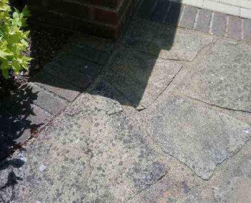Before Pressure Wash and Linchen Removal